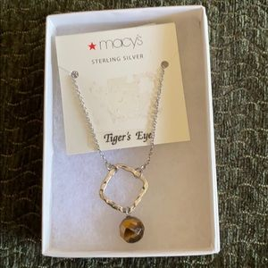 Macy's sterling silver tigers eye necklace
